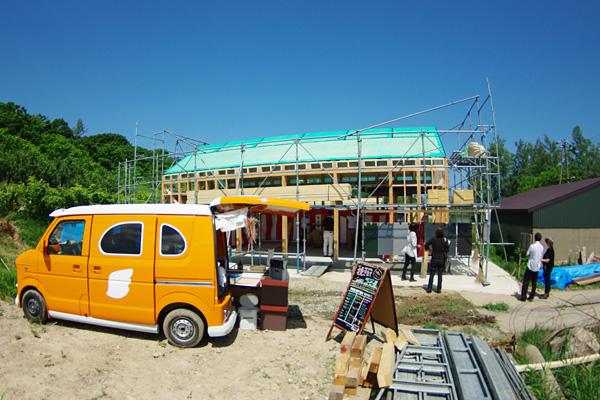 余市エコカレッジ学び舎建設・上棟式