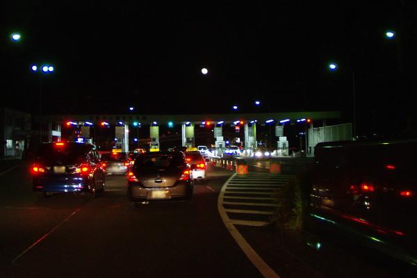 琵琶湖大橋料金所とお月さま