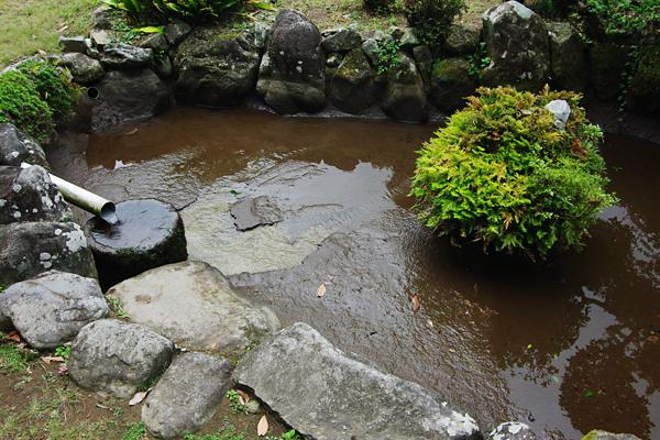 底が見えた池
