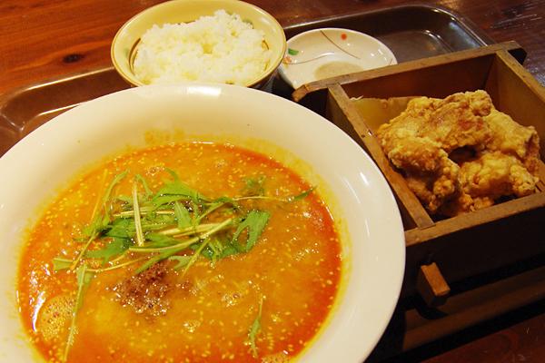 ふくふく・坦々麺から揚げセット