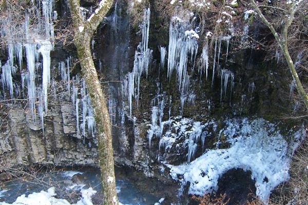 栃木県の雄飛の滝周辺