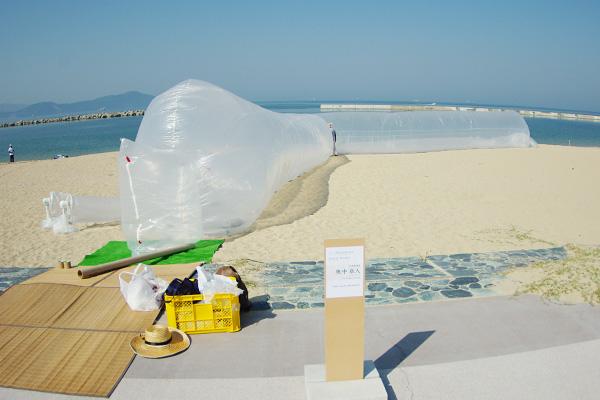 浜辺アートその1