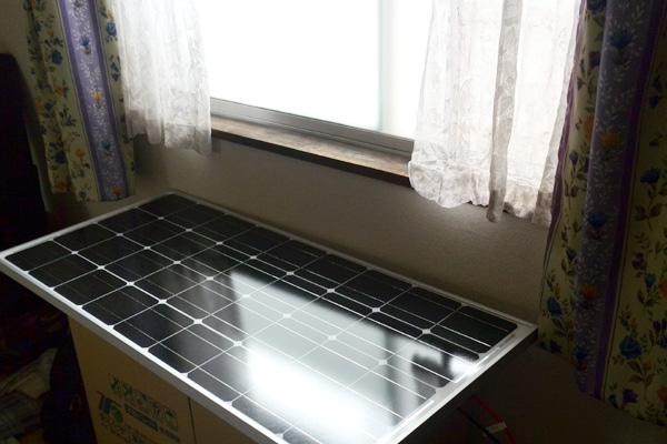 窓際ソーラー発電システム
