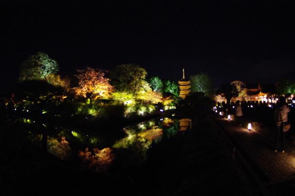 東寺ライトアップ〜その2