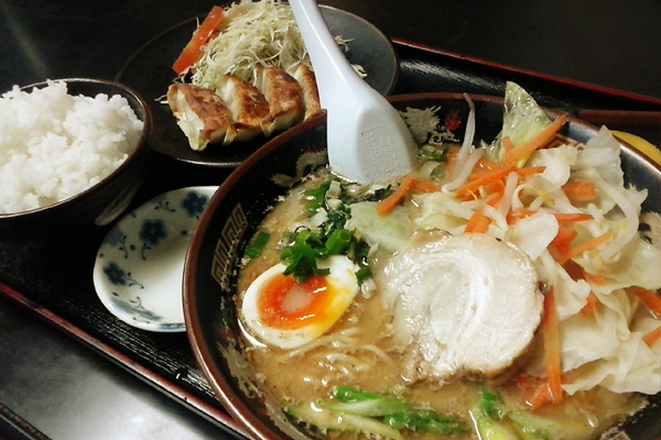 野菜ラーメン定食