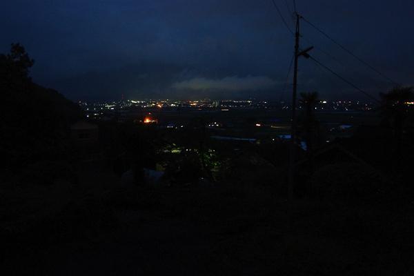 我が家(トイレ)から見える夜景