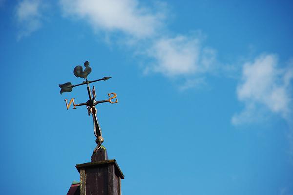 晴天の風見鶏